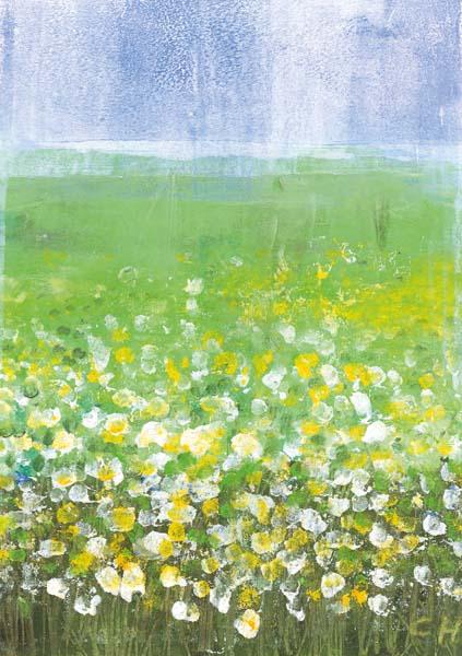 Kunst-Postkarte - So viele Blumen - so viele Jahre