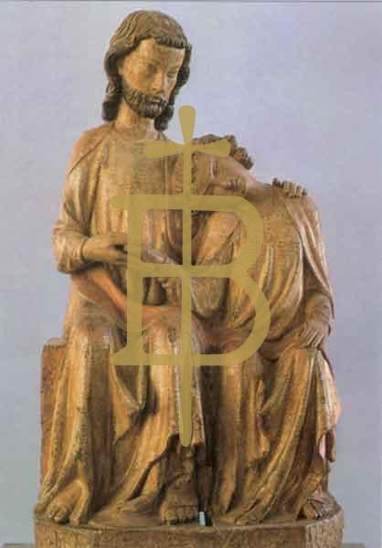 Kunstkarte - Christus-Johannes-Gruppe