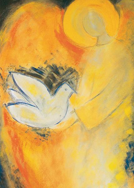 Kunst-Postkarte - Engel des Friedens