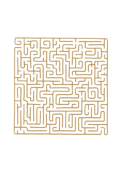Premium-Klappkarte - Labyrinth der Kraft