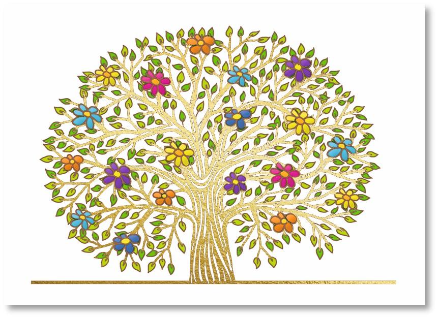 Premium-Klappkarte - Blüten der Freude
