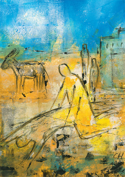Kunstkarte - Der barmherzige Samariter