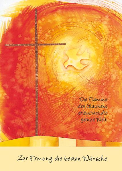 Klappkarte - Flamme des Glaubens