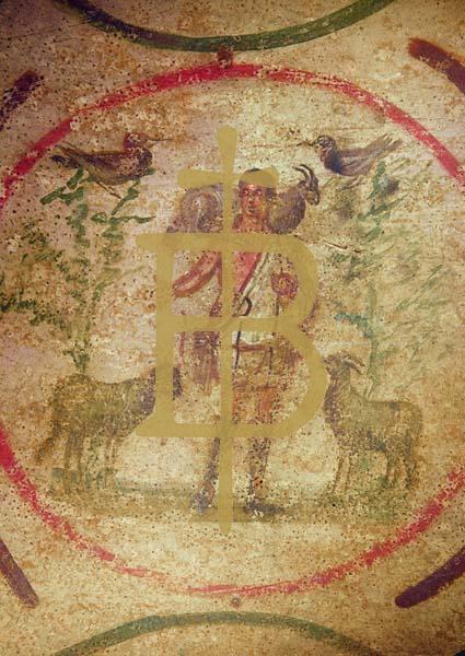 Kunstkarte - Christus als Guter Hirte