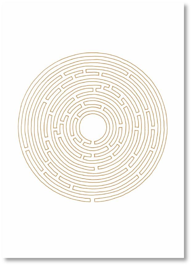 Premium-Klappkarte - Labyrinth des Vertrauens
