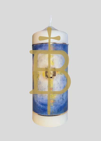 Kerze - Goldkreuz