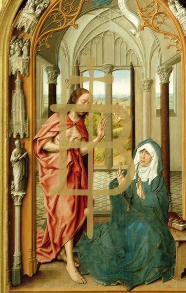 Bildchen - Christus erscheint seiner Mutter