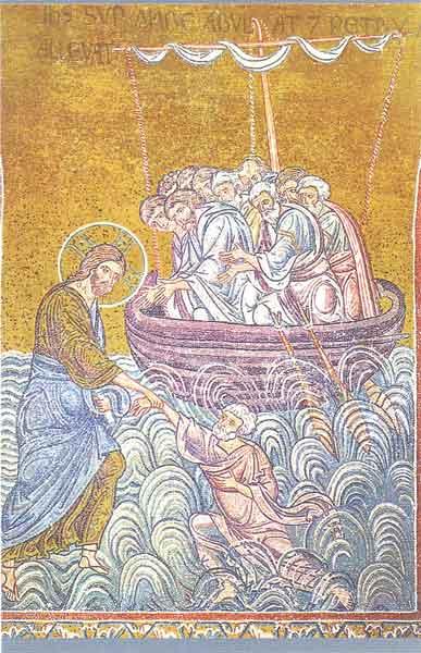 Christus rettet den Apostel Petrus