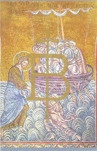 Bildchen - Christus rettet den Apostel Petrus
