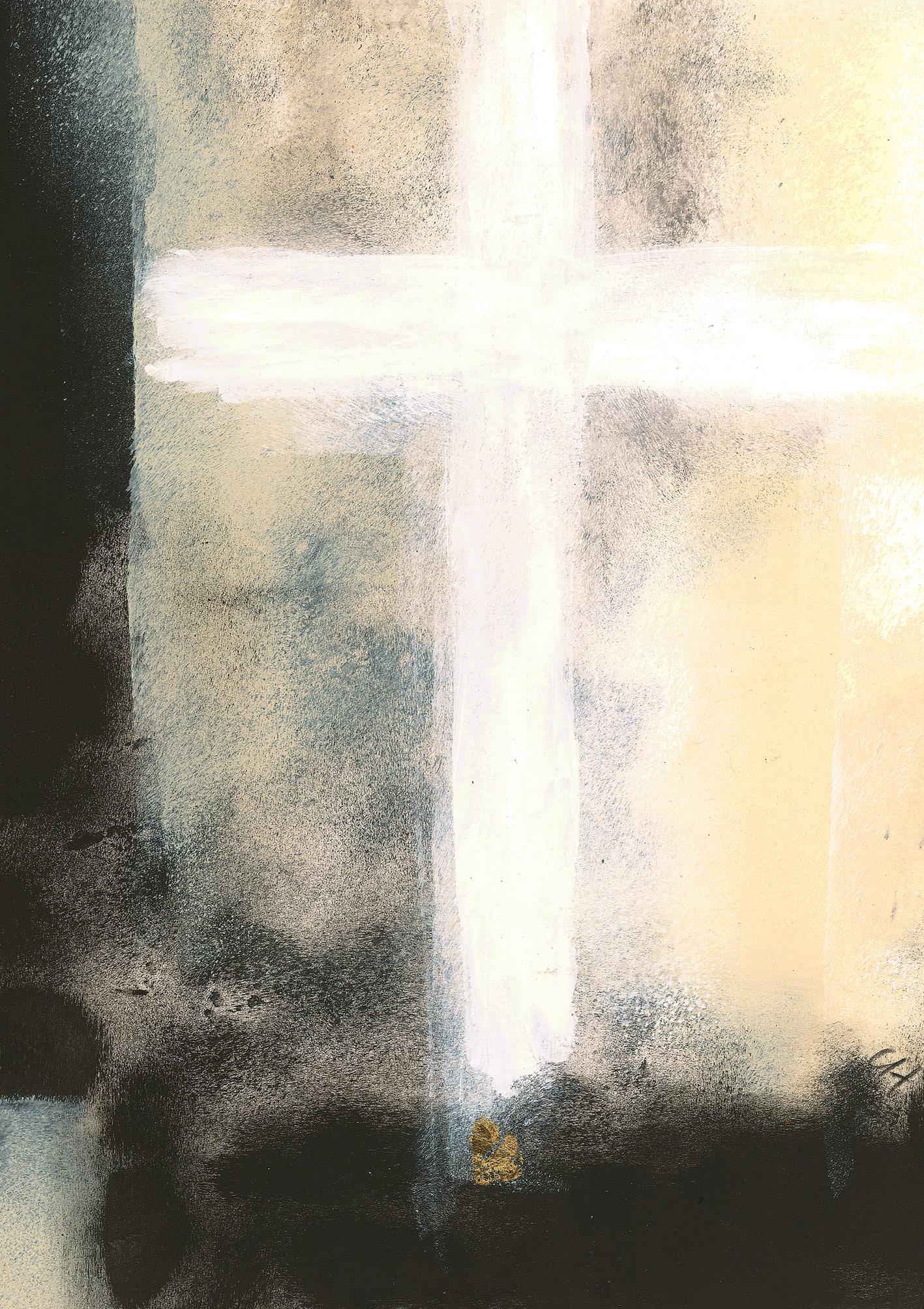 Klappkarte - Im Schatten des Kreuzes: Trost