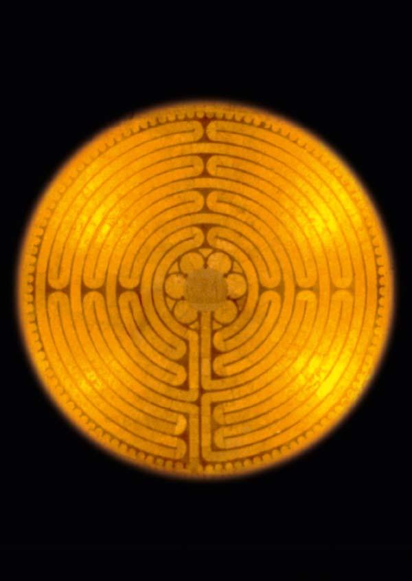 Kunstkarte - Das Labyrinth von Chartres