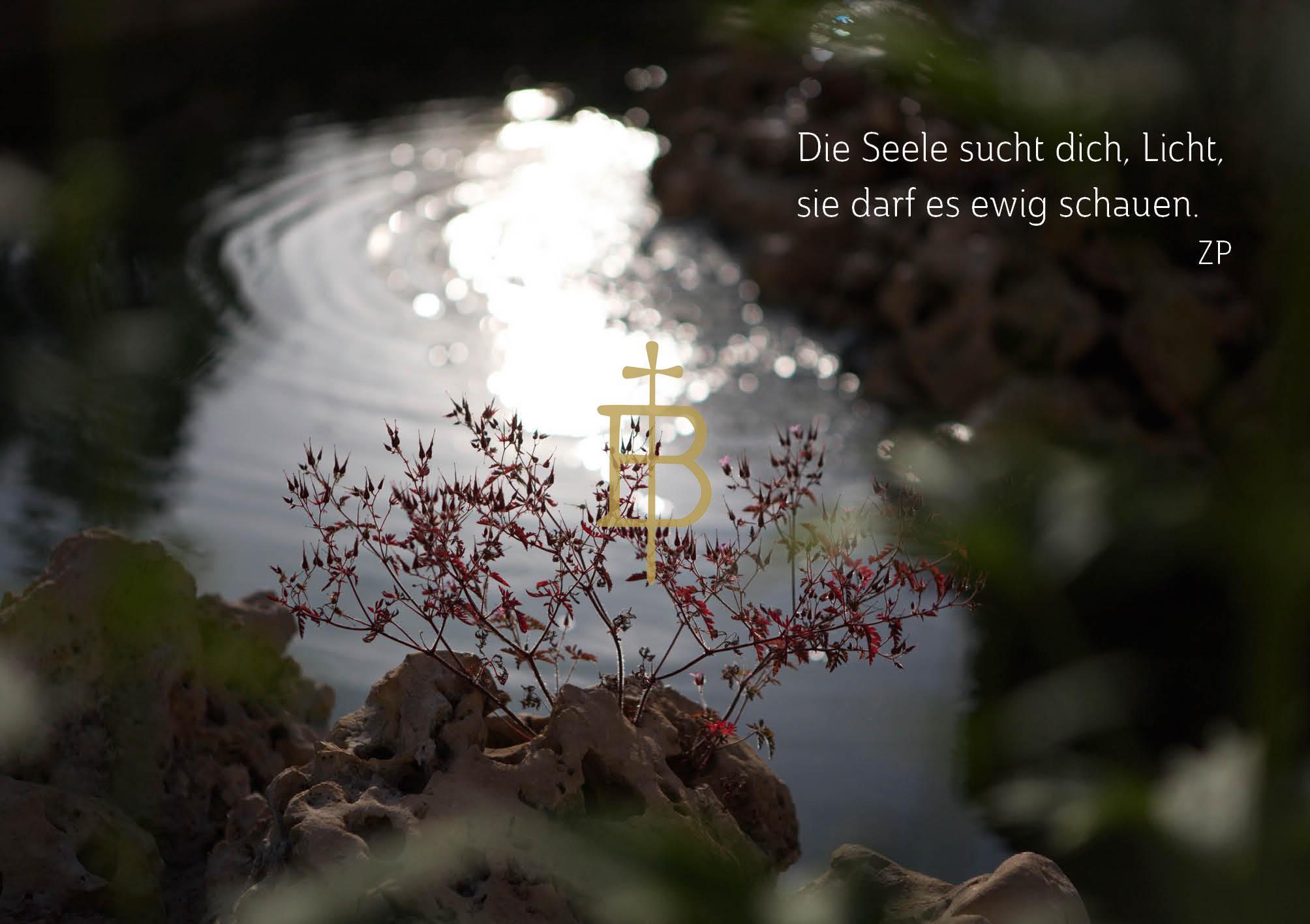 Klappkarte - Die Seele sucht Licht
