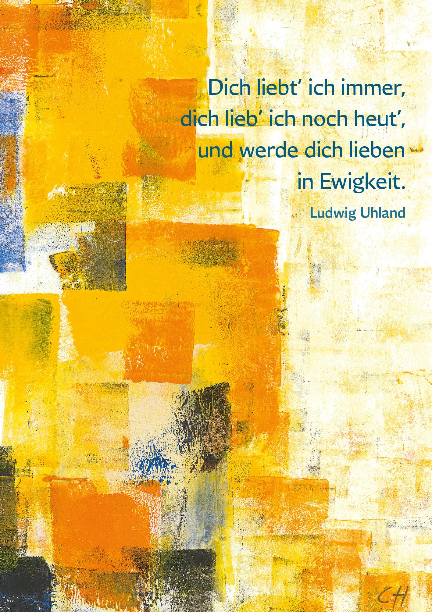 Klappkarte - Goldene Lebenswege