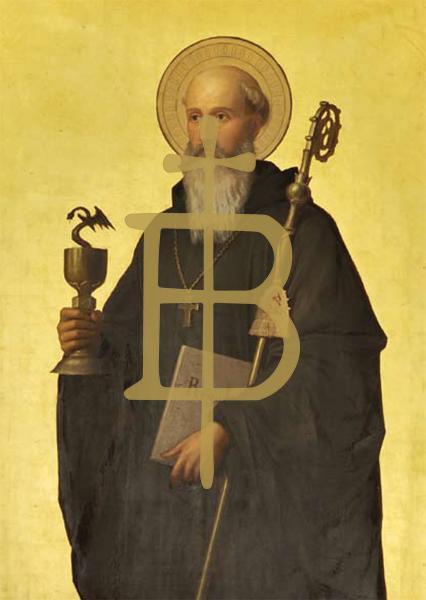 Kunstkarte - Der heilige Benedikt