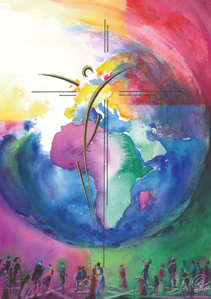 Klappkarte - Heil für die Welt