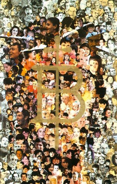 Bildchen - Gesicht Christi - Gesichter der Menschen