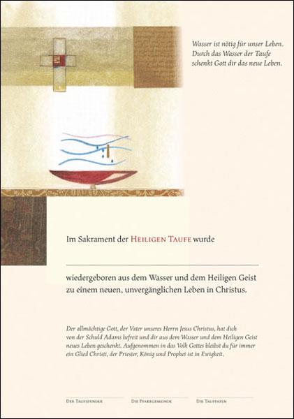 Tauf-Urkunde