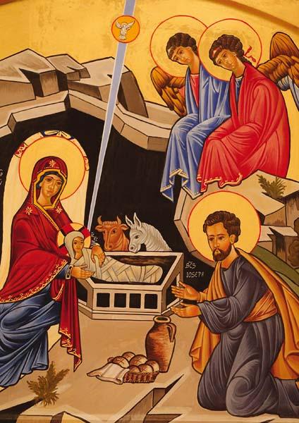 Kunst-Postkarte - Die Geburt Christi