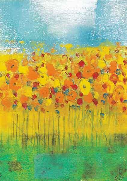 Kunst-Postkarte - Himmelswünsche
