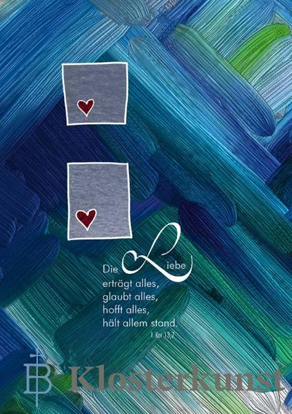 Klappkarte - Durch die liebe tragen wir einander