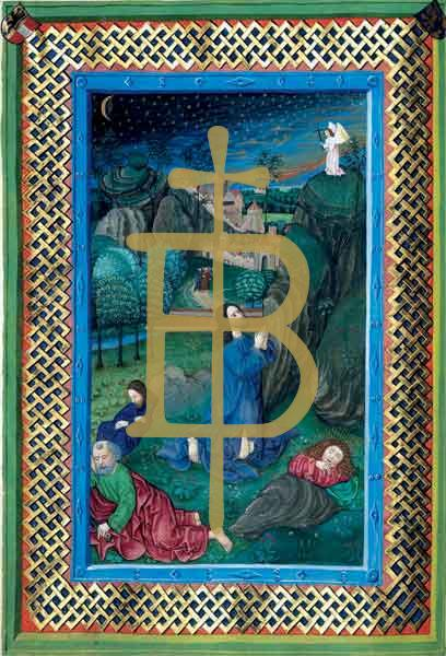 Kunstkarte - Jesus am Ölberg