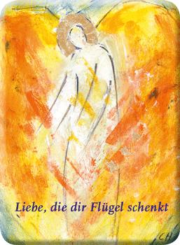 Deko Magnet - Liebe, die dir Flügel schenkt