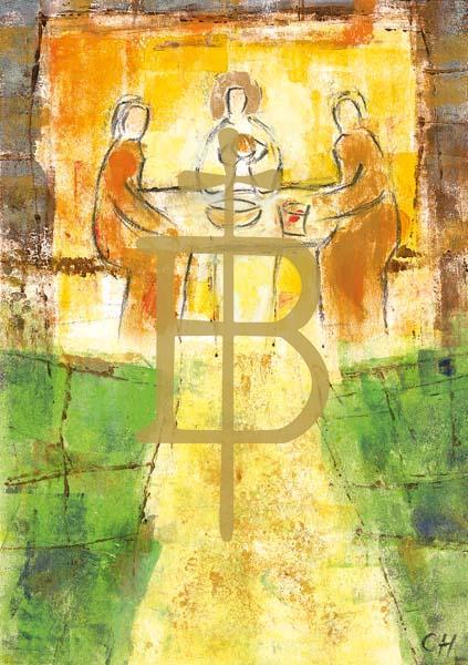 Klappkarte - Im Brot vereint
