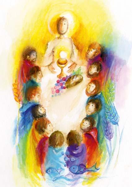 Kunst-Postkarte - Jesus hat uns eingeladen