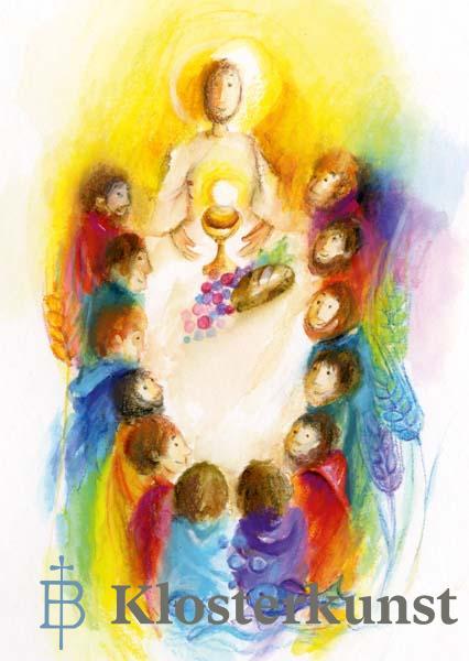 Kunstkarte - Jesus hat uns eingeladen