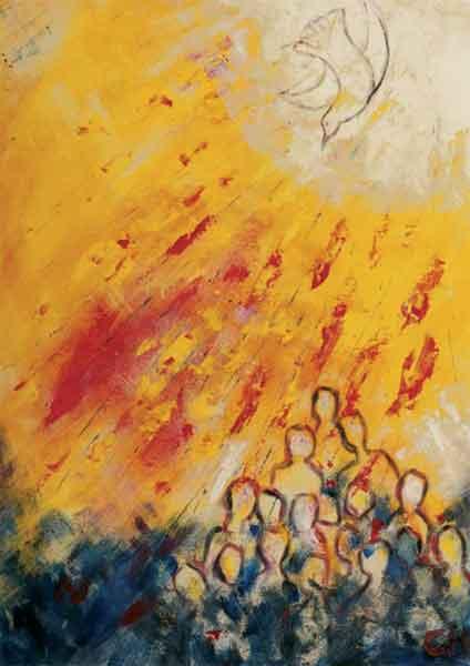 Kunstkarte - Einbruch des Geistes