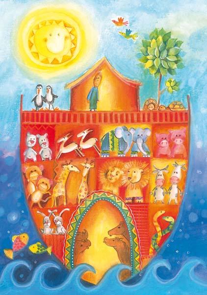 Kunst-Postkarte - Die Arche Noah