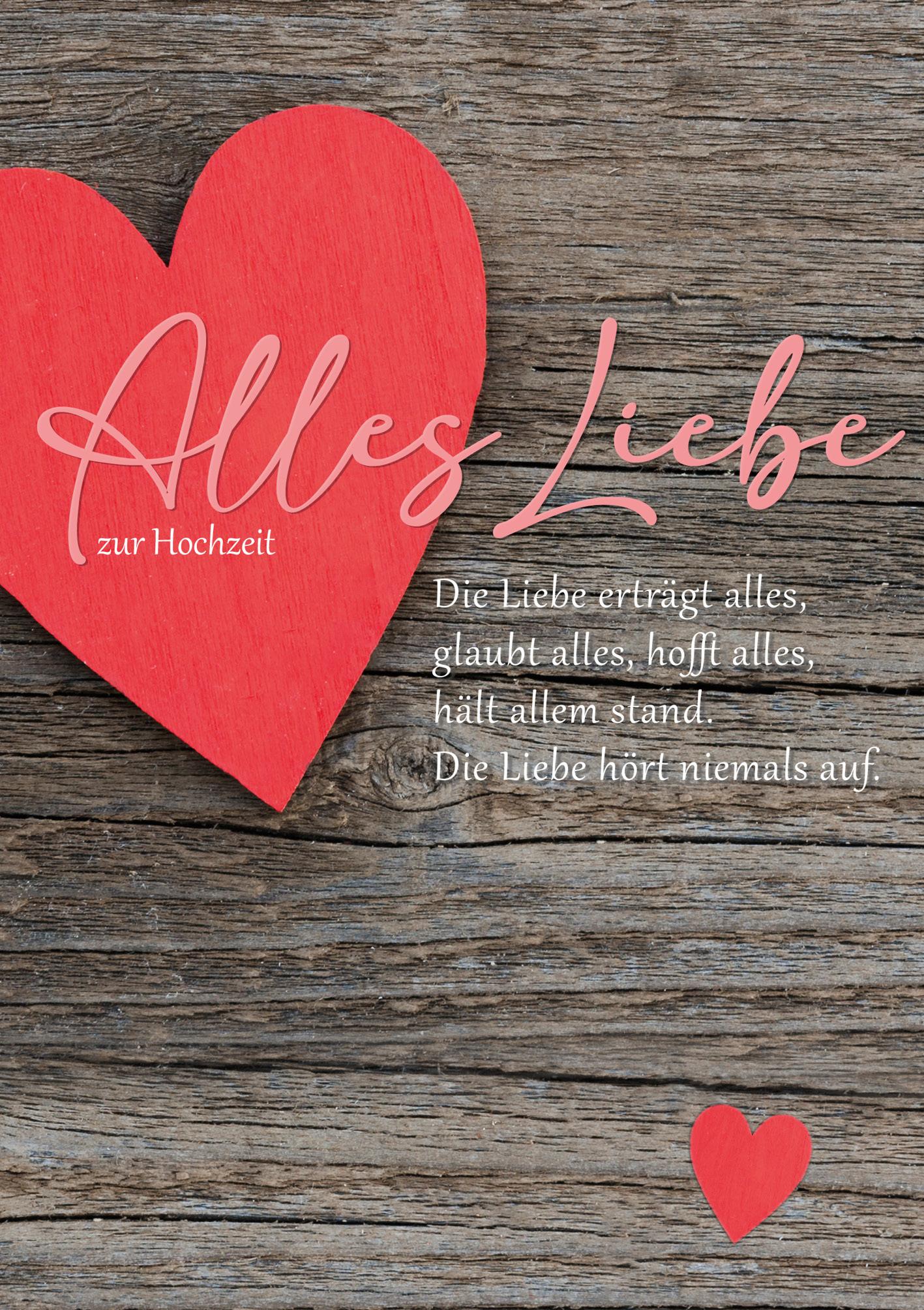 Klappkarte - Miteinander auf dem Weg der Liebe