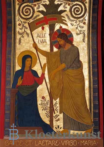 Kunstkarte - Der Auferstandene erscheint seiner Mutter