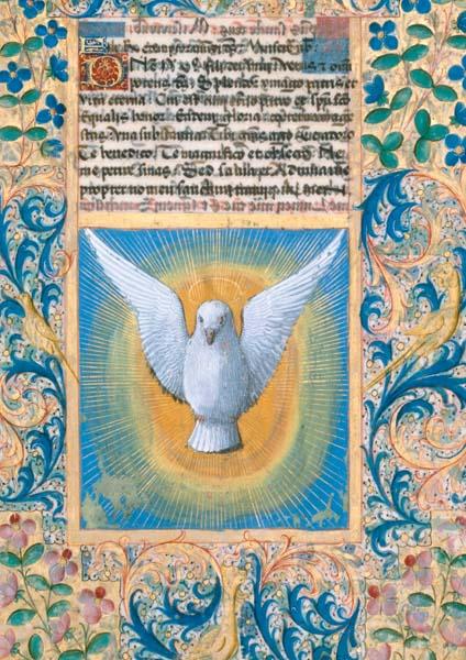 Klappkarte - Die Taube des heiligen Geistes
