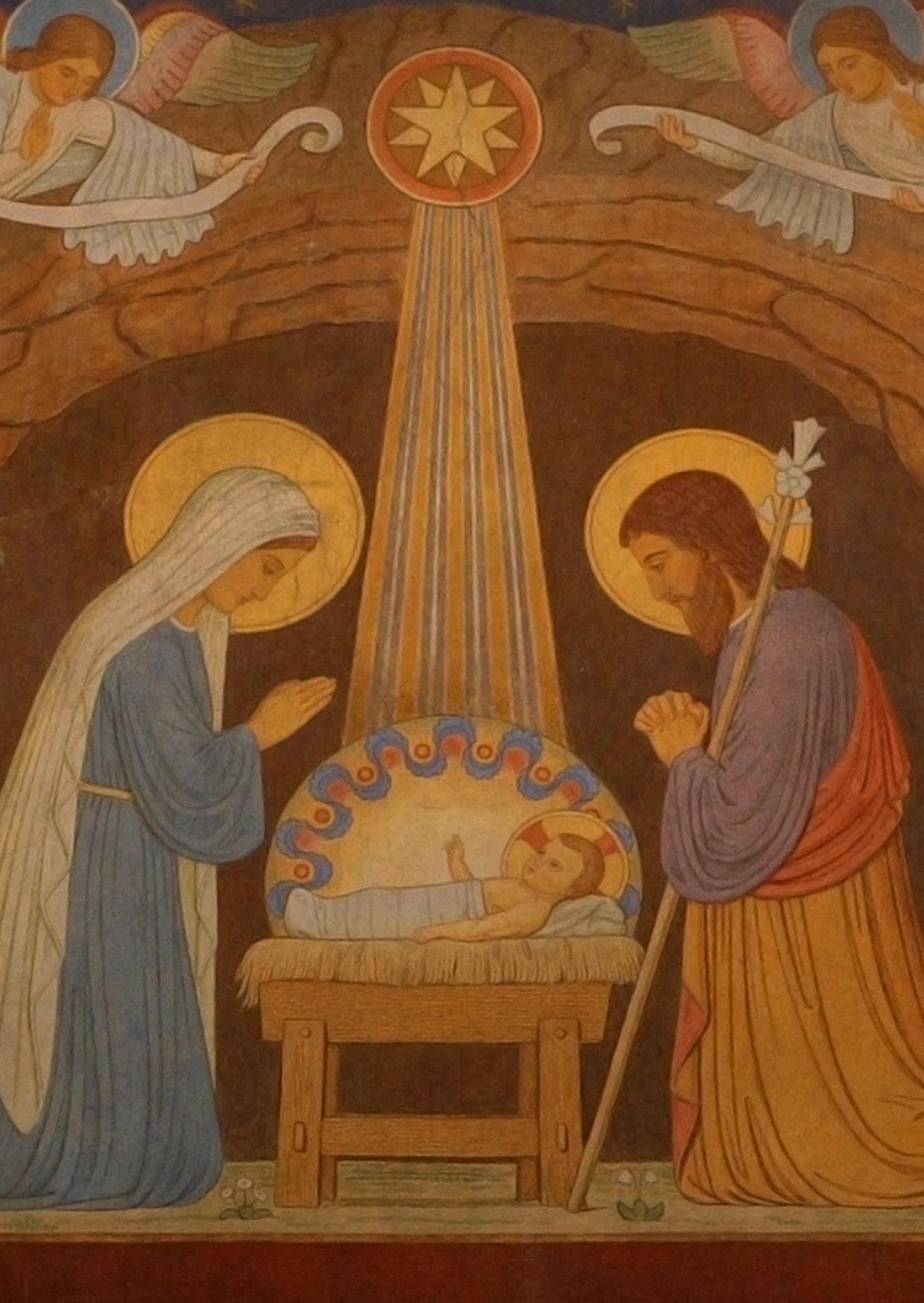 Kunst-Postkarte  - Menschwerdung Christi