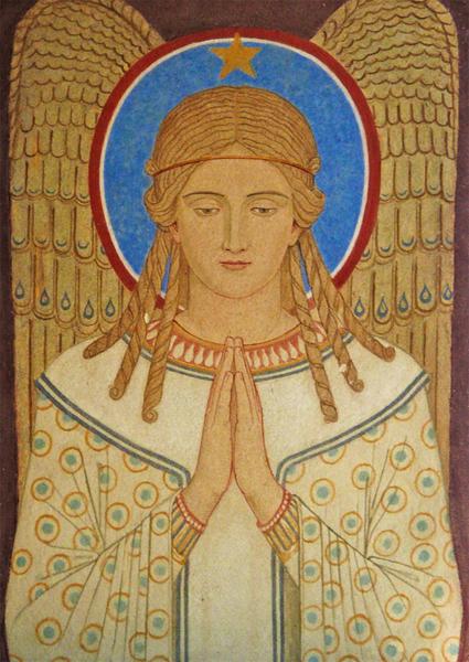 Kunst-Postkarte - Betender Engel