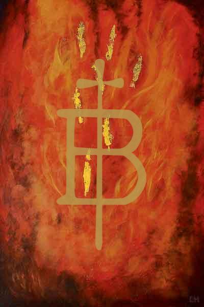 Kunstkarte - Glaube wie Feuer