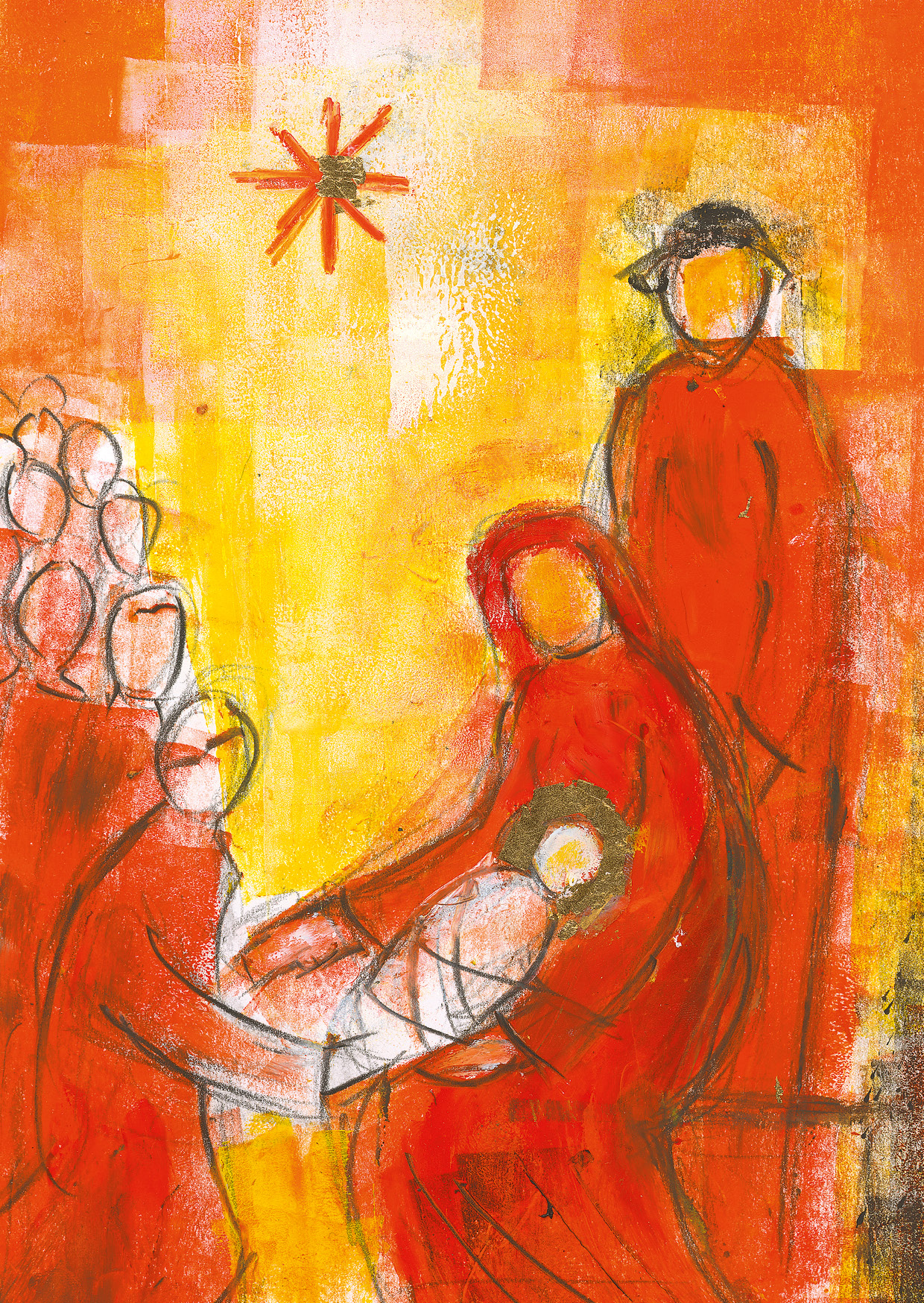 Kunst-Postkarte - Gottes großes Geschenk