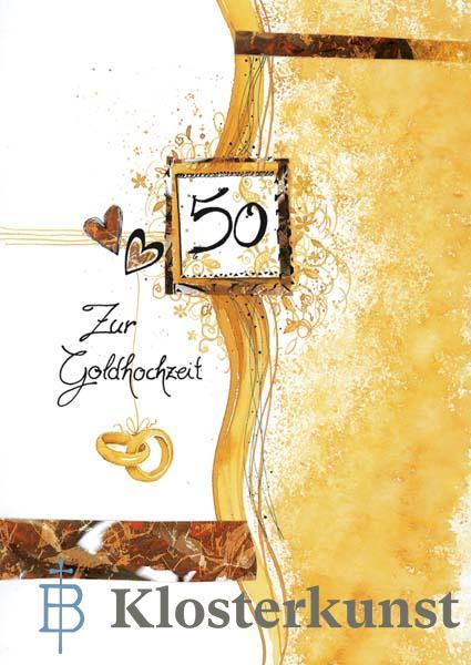 Klappkarte - Zur Goldenen Hochzeit