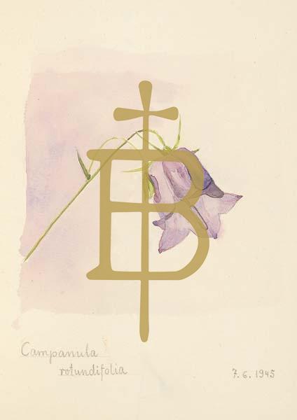 Klappkarte - Die Glockenblume läutet Glück