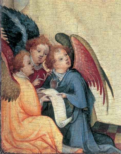 Kunst-Postkarte - Drei Engel