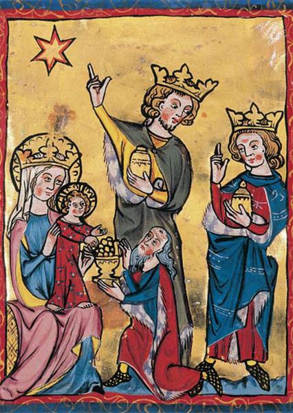 Kunstkarte - Anbetung der hl. drei Könige
