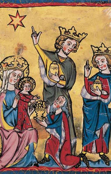 Bildchen - Anbetung der hl. drei Könige