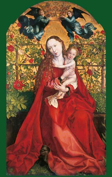 Madonna in der Rosenlaube