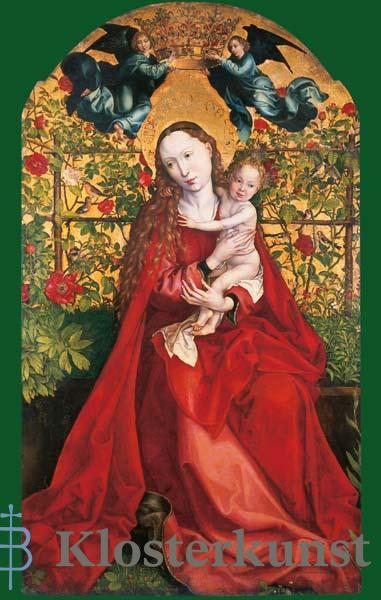 Bildchen - Madonna in der Rosenlaube