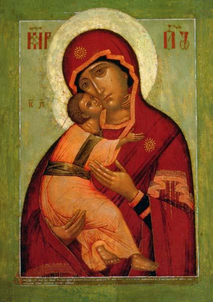 Klappkarte - Die Wladimir Madonna der Demut