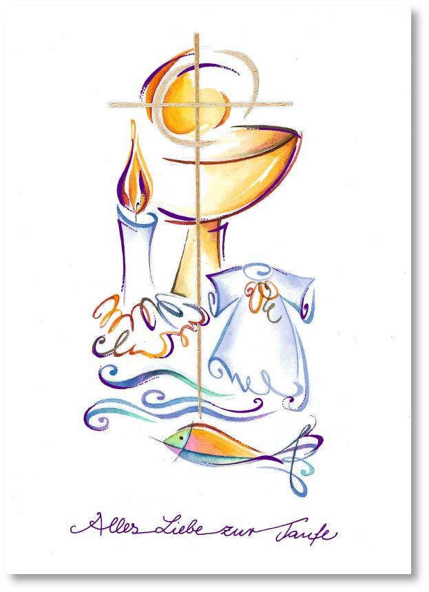 Klappkarte - Taufe schenkt Leben