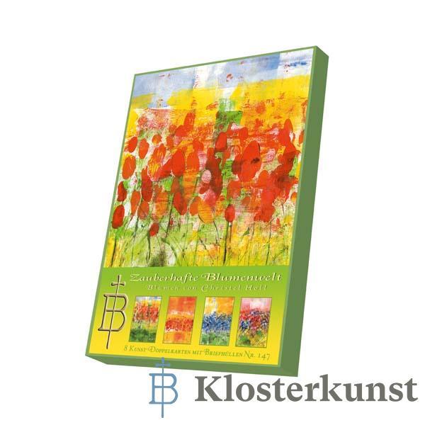 Kartenbox - Zauberhafte Blumenwelt