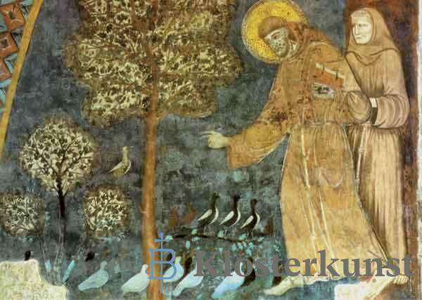 Kunstkarte - Franziskus Predigt den Vögeln
