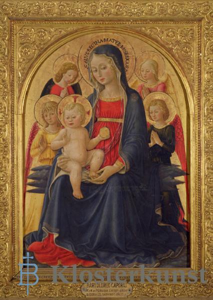 Kunstkarte - Madonna mit Kind und Engeln